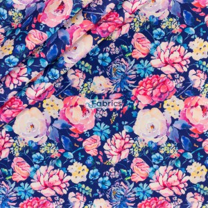 Mix of flowers on the navy background