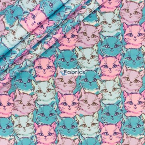 Pink and blue cats