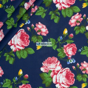 Roses with leaves on a dark blue background
