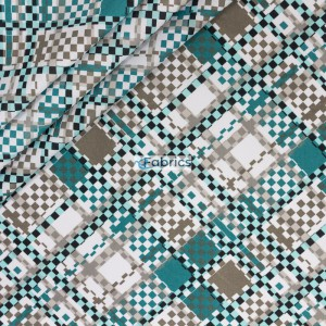 Turquoise grey and white squares