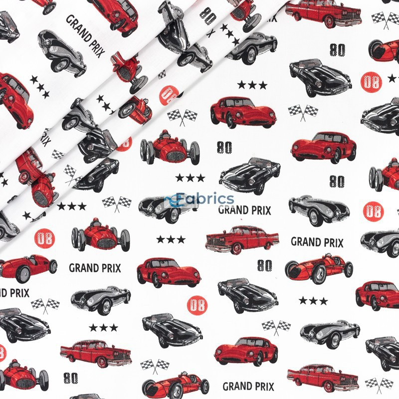 Raicing cars on a white background