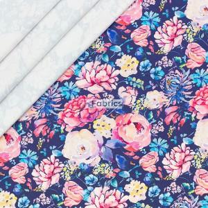 Printed sweat fabric